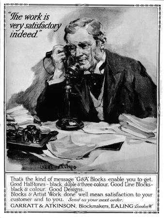 'Garratt & Atkinson, Blockmakers - advert', 1916