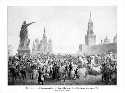 Czar Alexander Ii, Moscow, (September 185), 1900--Giclee Print