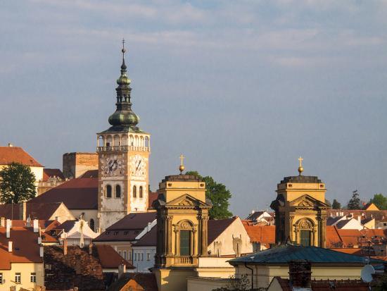 Czech Republic, Mikulov. The church Tower of St. Wenceslas-Julie Eggers-Photographic Print