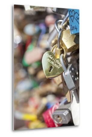 Czech Republic, Prague - Abundance of Love Padlocks on Railings