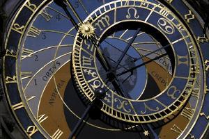 Czech Republic, Prague, Astronomical Clock at Old Town Hall Tower, Astromical Dial