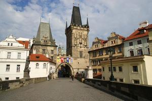 Czech Republic. Prague. Bridge Tower at the End of the Charles Bridge on the Side of Mala? Strana