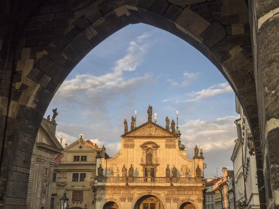 Czech Republic, Prague. St. Salvator Church near the Charles bridge at dusk.-Julie Eggers-Photographic Print