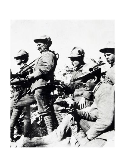 Czechoslovak Legionaries on Italian Front, Summer of 1918--Giclee Print