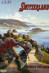 Switzerland Across the Jura, circa 1910 by D'alesi Hugo F