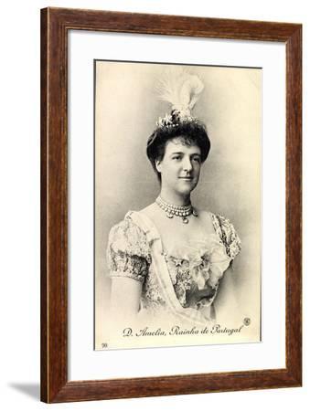 D. Amelia, Rainha De Portugal, Königin, Portrait--Framed Giclee Print