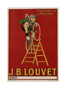 J.B. Louvet Bicycles Poster by D'Apres Mich