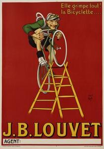J.B. Louvet Bicycles Poster by D'Apres Mich