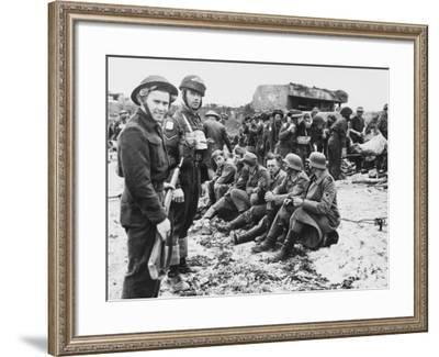 D-Day - German Prisoners-Robert Hunt-Framed Photographic Print