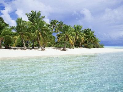 Paradise Beach, One Foot Island, Aitutaki, Cook Islands, South Pacific Islands
