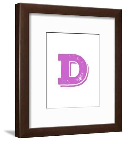 D in Pink-Veruca Salt-Framed Art Print
