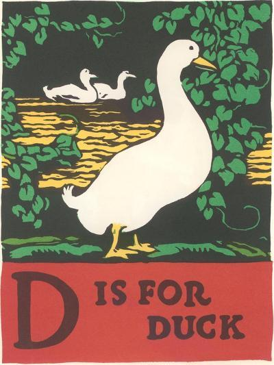 D is for Duck--Art Print