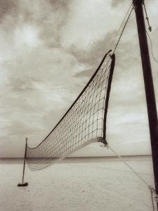 Volleyball Net on the Beach, Cancun, Mexico by D^ Robert Franz