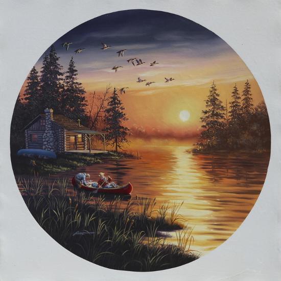 D45 Fishermen Canoe-D. Rusty Rust-Giclee Print