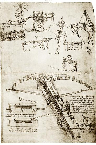 Da Vinci's Crossbow-Library of Congress-Photographic Print