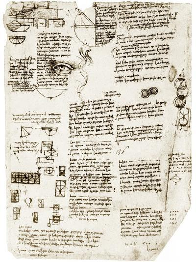 Da Vinci's Notebook-Library of Congress-Photographic Print