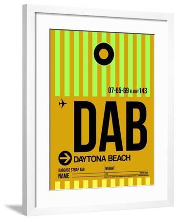 DAB Daytona Beach Luggage Tag I-NaxArt-Framed Art Print