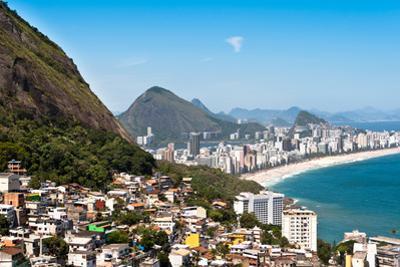 Rio De Janeiro Favela and Ipanema Beach View by dabldy