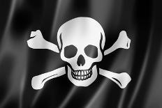 Pirate Flag, Jolly Roger-daboost-Mounted Art Print