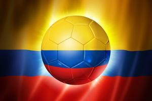 Soccer Football Ball with Colombia Flag by daboost