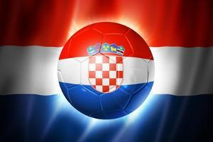 Soccer Football Ball with Croatia Flag by daboost