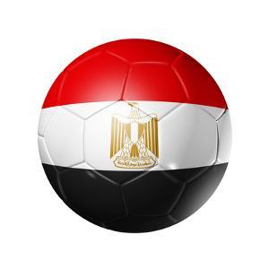 Soccer Football Ball With Egypt Flag by daboost