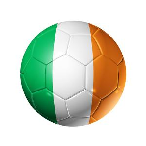 Soccer Football Ball With Ireland Flag by daboost