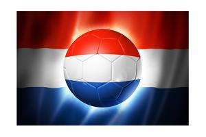 Soccer Football Ball with Netherlands Flag by daboost
