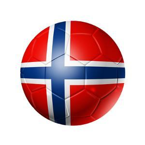 Soccer Football Ball With Norway Flag by daboost