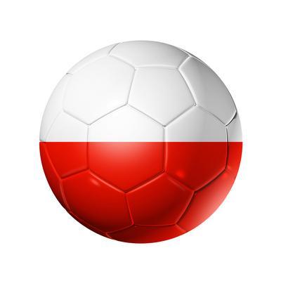 Soccer Football Ball With Poland Flag