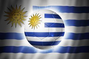 Soccer Football Ball with Uruguay Flag by daboost