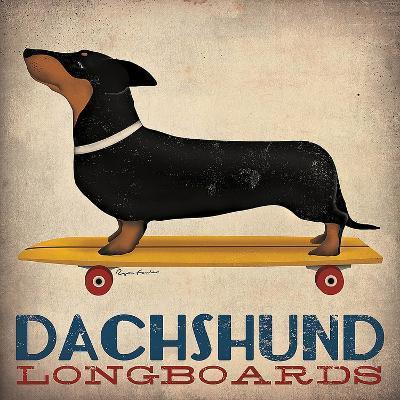 Dachshund Longboards-Ryan Fowler-Art Print