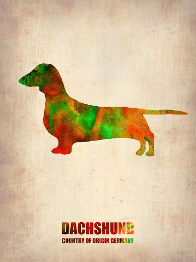 Dachshund Poster 2-NaxArt-Art Print
