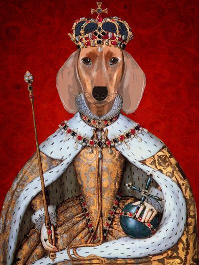 Dachshund Queen-Fab Funky-Art Print