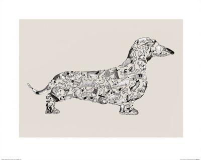 Dachshund-Louise Tate-Art Print