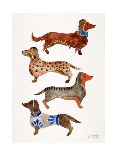Dachshunds-Cat Coquillette-Giclee Print