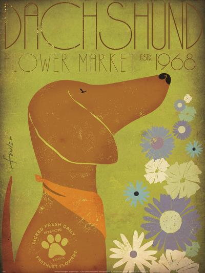 Dachsund Flower Market-Stephen Fowler-Art Print