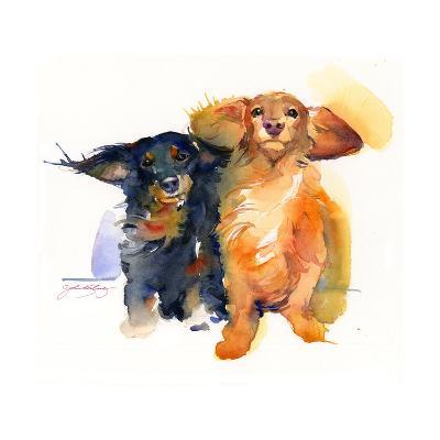 Dacshund Duo, 2014-John Keeling-Premium Giclee Print