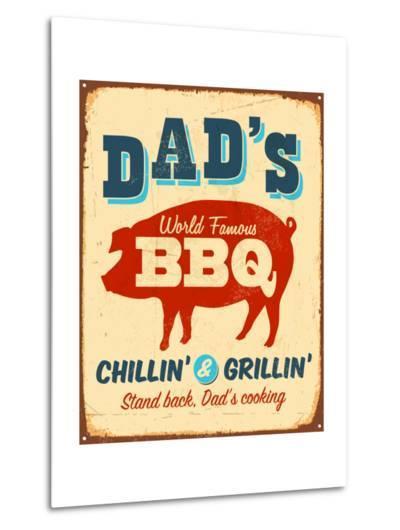 Dad's BBQ-Real Callahan-Metal Print