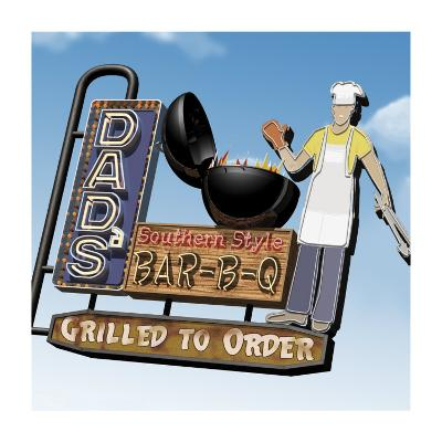 Dad's Southern Style Bar-B-Q-Anthony Ross-Art Print