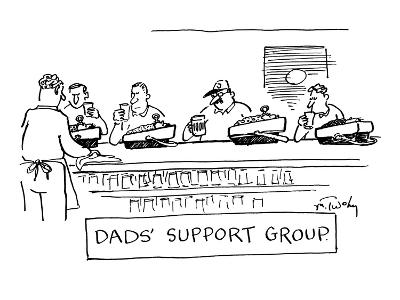 """""""Dad's Support Group"""" - New Yorker Cartoon-Mike Twohy-Premium Giclee Print"""