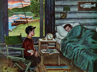 """""""Dad, the Fish are Biting,"""" August 25, 1962-Amos Sewell-Giclee Print"""