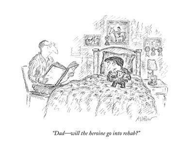 """Dad?will the heroine go into rehab?"" - New Yorker Cartoon-Edward Koren-Premium Giclee Print"