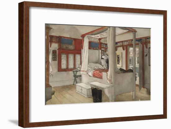 Daddy's Room, from 'A Home' series, c.1895-Carl Larsson-Framed Giclee Print