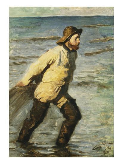 Daenischer Fischer Beim Einbringen Des Netzes-Peder Severin Kr?yer-Giclee Print