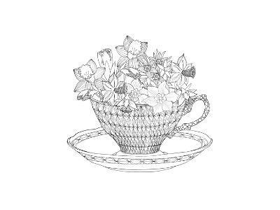 Daffodil Tea-The Tangled Peacock-Giclee Print