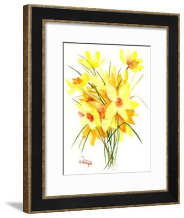 Daffodil-Suren Nersisyan-Framed Art Print