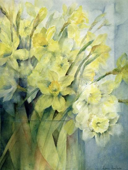Daffodils, Uncle Remis and Ice Follies-Karen Armitage-Giclee Print
