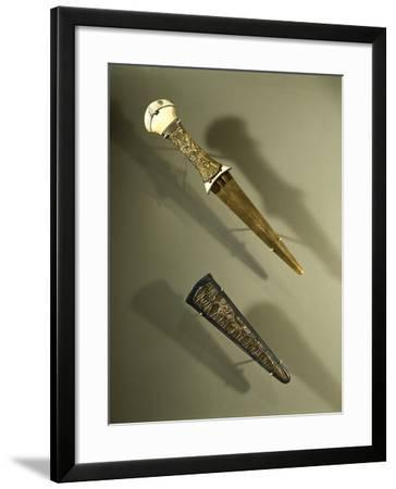 Dagger with Scabbard Made of Ivory, Gold and Silver--Framed Giclee Print