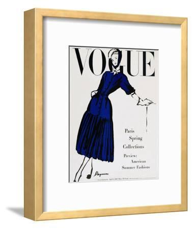 Vogue Cover - April 1947 - Black and Blue